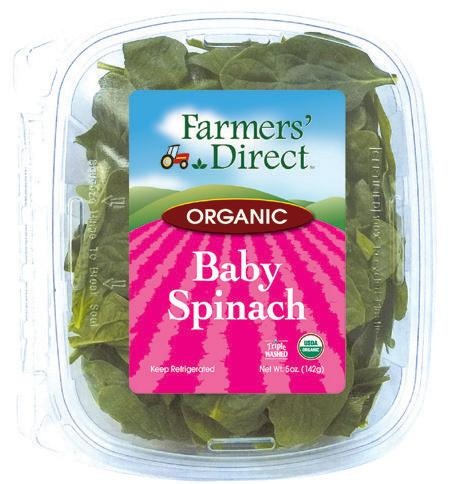Organic 11 oz Spinach   Farmers Direct