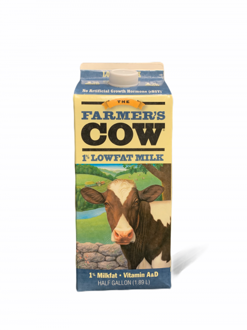 Farmers Cow-  1% Half Gallon