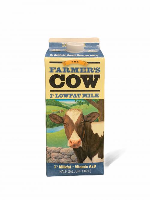 Farmers Cow-  1% Half Gallon